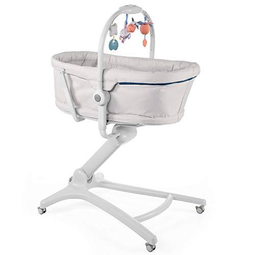 Chicco Baby Hug 4 in 1 Stubenwagen ab 0 Monate, Erhöhte Babyliege, Babybett, Hochstuhl mit Spielbogen, bis 15 kg, Verstellbare Rückenlehne, Verstellbare Höhe und 4 Räder