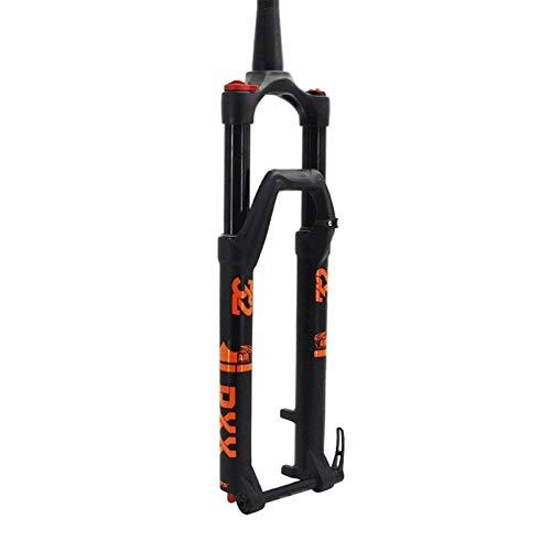 TYXTYX Horquilla de Descenso para Bicicleta MTB 27,5/29 Pulgadas Cono de Ajuste de amortiguación de suspensión neumática 1-1/2'Freno de Disco Horquilla de Bicicleta Eje pasante 15 mm Control m