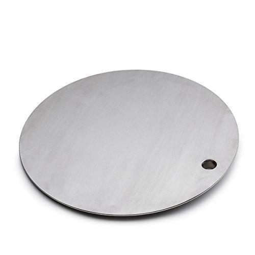 höfats - TRIPLE Tisch und heiße Platte in einem - höhenverstellbar und schwenkbar für Temperaturregulierung - Edelstahl - Zubehör für TRIPLE Feuerschale