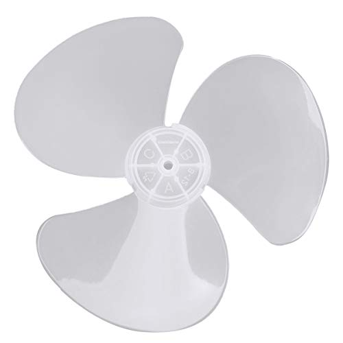 dPois 16 Inch / 12 Inch Aspas del ventilador Aspas Hojas Plásticas de Ventilador Con/Sin Tuerca para Ventilador de Techo Ventilador de Pie Mesa Blanco 12 inch