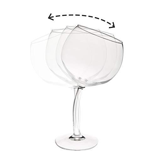 Sacudiendo La Copa De Vino Tinto, El Nuevo Vidrio Sobrio Personalizado, El Despertador De Vinos Con La Ventosa En La Parte Inferior, Puede Ser Dotado a Los Amigos
