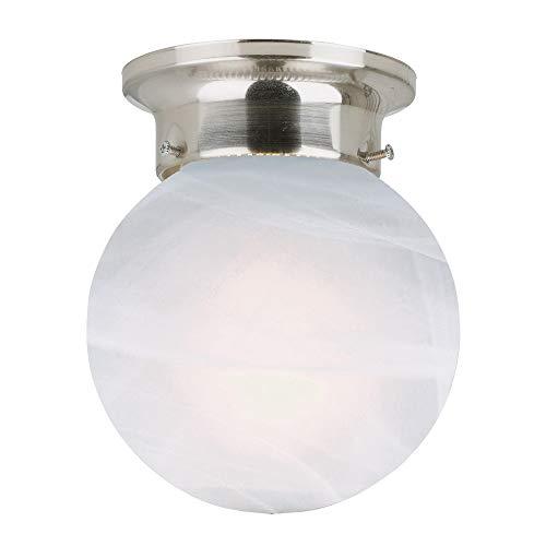Design House 511592 Millbridge 1-Light Ceiling Mount, 6.75 6-Inch, Satin Nickel, No Pull Chain