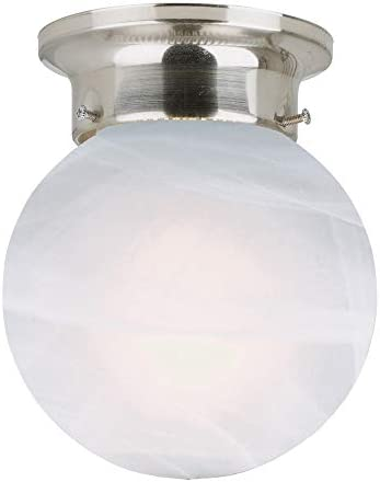 Design House 511592 Millbridge 1 Light Ceiling Mount 6 75 6 Inch Satin Nickel No Pull Chain product image