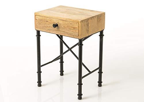 Amadeus - Table de Chevet 1 tiroir en Bois et métal Auguste