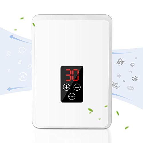 Purificador de aire, generador de ozono con pantalla LCD, esterilizador de fruta, limpiador de aire para un aire óptimo en el dormitorio, la habitación de los niños y la oficina