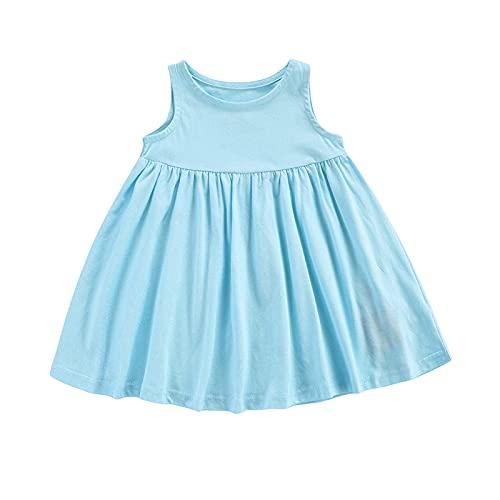 1 unids bebé niños niñas algodón mameluco vestido maxi sin mangas mono color sólido Sundress