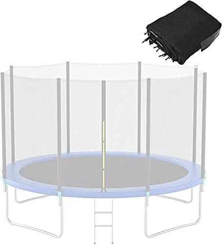 VULLDWS Reemplazo de trampolín Reemplazo Neto Red Resistente a UV Protección de trampolín de trampolín Ø 305 366 396 427 430 cm 6 8 Poles, Easy Montaje, Puerta de Entrada con Cremallera