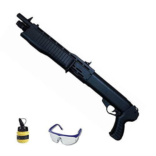 Escopeta hfc-232 (Muelle) | Rifle de Airsoft Calibre 6mm (Bolas de plástico PVC 6mm) + biberón + Gafas de protección