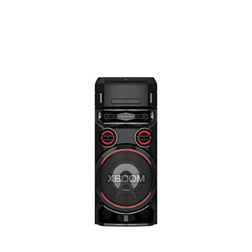LG XBOOM ON7 Party-Lautsprecher, Onebody-Soundsystem (Bluetooth, DJ- und Karaoke-Funktion), schwarz [Modelljahr 2020]