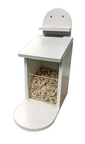 TropicShop Eichhörnchen Futterbox | Eichhörnchen Futterstation - Wetterfest aus Kunststoff - Futterautomat für Eichhörnchen