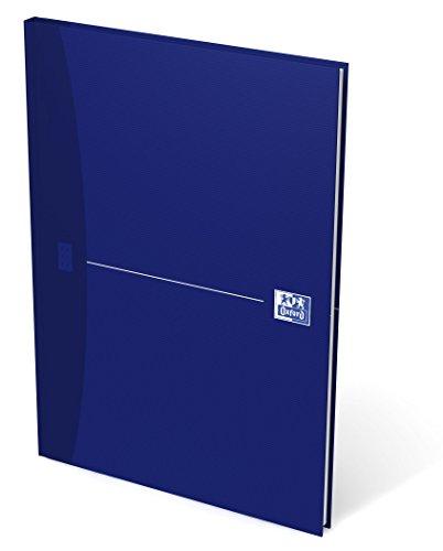 OXFORD 100102357 Gebundenes Buch Essentials A4 kariert 96 Blatt mit abtrennbaren Ecken blau Geschäftsbuch Tagebuch Kladde Journal Skizzenbuch