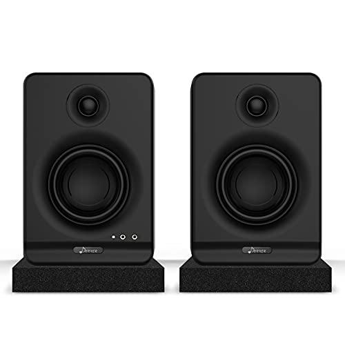 Donner Dyna 3 High Definition Bluetooth 5.0 Active Studio Monitor, mit Professionellem CSR Bluetooth 5.0, 2er-Pack Inklusive Isolationspads für Studio-Audiomonitore (Dyna3 Schwarz, Paar)