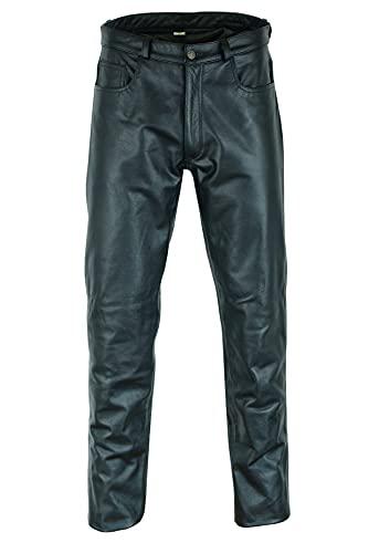 Jean de Moto pour Homme - Cuir - Noir - W42 / 106,5cm Tour de Taille