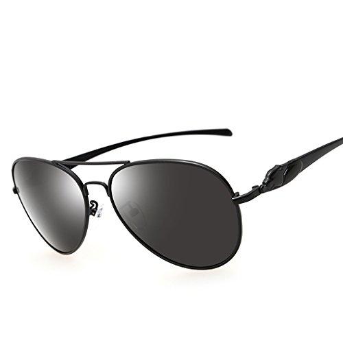 Ppy778 Gafas de Sol polarizadas Retro Vintage para Hombres Deporte al Aire Libre Metal metálico Ultraligero Lentes HD Lentes Gafas Air Force Unisex UV 400 Protección