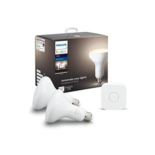 Philips Hue Kit de iniciación BR30 regulable (sólo regulable, compatible con Alexa, Apple HomeKit, Google Home)