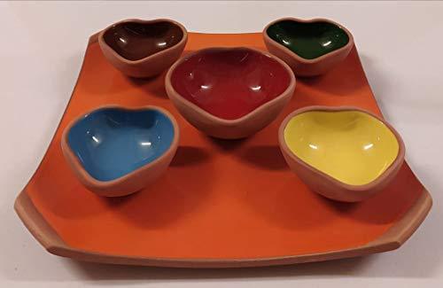 Cuenco decorativo y elegante en forma de corazón, juego de galletas de cerámica en forma de corazón, plato para salsa, mini plato de especias lateral, cuencos de soja para sushi