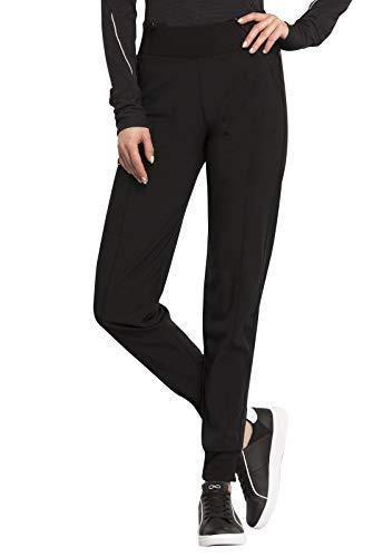 CHEROKEE Infinity Women's Elastic Waist Jogger Scrub Pants-CK110A (Black - Large Tall)