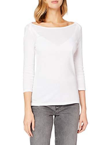 United Colors of Benetton (Z6ERJ Maglia M/l Camiseta, Bianco 101, XS para Mujer