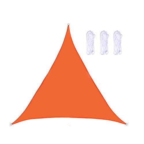 VKTY Toldo de triángulo impermeable para refugio, patio, jardín, instalaciones y actividades al aire libre, naranja