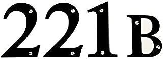 221B Baker Street Sherlock Black Decal Vinyl Sticker|Cars Trucks Vans Walls Laptop| Black |5.5 x 2 in|LLI542