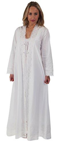 The 1 for U 100% Cotton Housecoat / Bathrobe - Rosalind (Large)