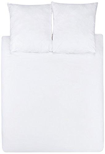 Amazon Basics Duvet Set, Weiß, 240cmx220cm/ 65cmx65cmx2