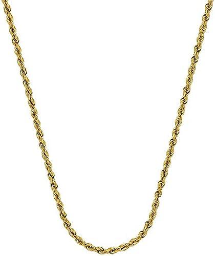 14 Gelb Gold Hohl Seil Kette Halskette 2,9  Karabiner Verschluss L e Optionen  46