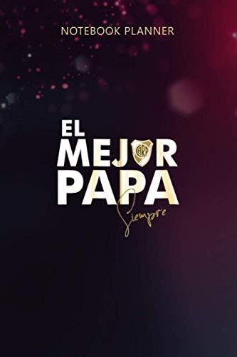 Notebook Planner Camiseta de River Plate El mejor Papa Argentinian Soccer Zip:...