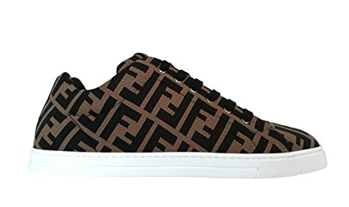FENDI Luxury Fashion Uomo 7E1258A7MYF0R7R Marrone Fibre Sintetiche Sneakers | Stagione Permanente