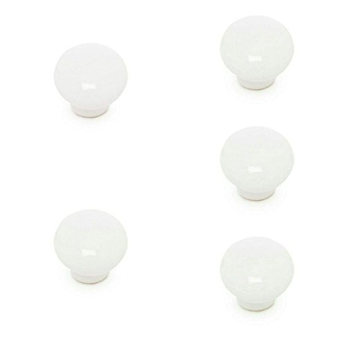 ABC_baño Tirador Mueble de Porcelana 5 Unidades Blanco