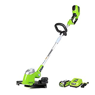 Greenworks 40V 13-Inch Cordless String Trimmer/Edger, 2.0 AH Battery Included 21302 (B00GXA6G7W) | Amazon price tracker / tracking, Amazon price history charts, Amazon price watches, Amazon price drop alerts