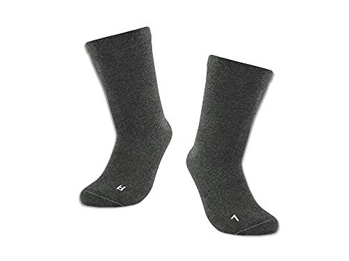 Vitopia 4 Paar Ges&heitssocken für Diabetiker-Socken ohne Gummi-B& für Herren und Damen | Extra weiter Schaft in breiter Trichterform | besonders Venenfre&lich ( Anthrazit 43-46 )