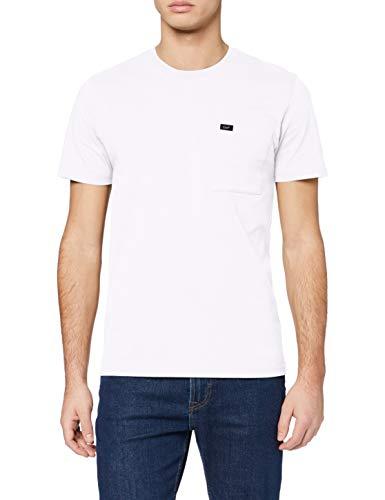 Lee Pocket tee Camiseta, Blanco, S para Hombre