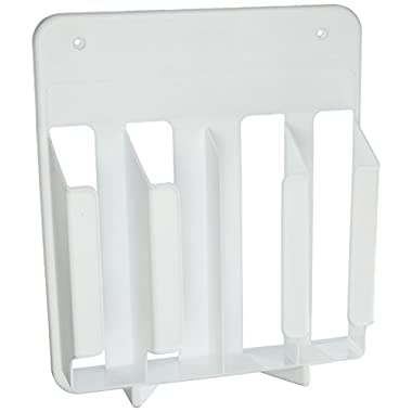 Rubbermaid Cabinet Door Mounted Kitchen Wrap and Bag Organizer Storage Rack (FG2310RDWHT)