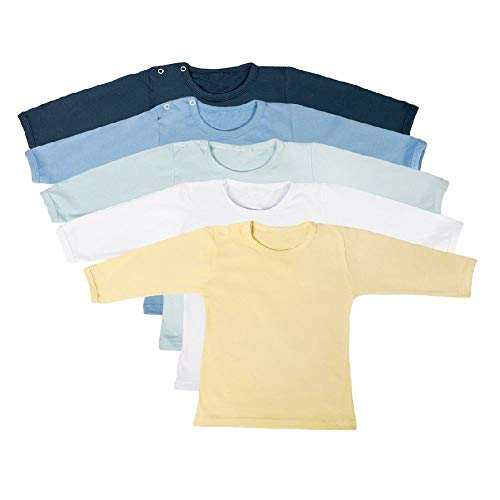 Camiseta Bebê Kit 5 peças Manga Longa Masculino 100% Algodão Tamanho:G