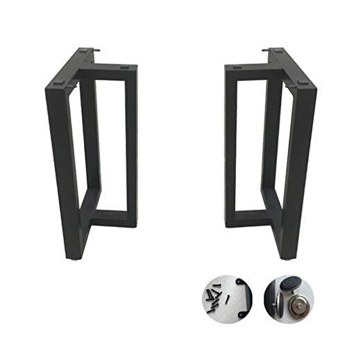 Patas de soporte de mesa Patas triangulares de hierro forjado Patas de soporte de muebles negros con tapetes antideslizantes / tornillos de instalación Herrajes Herrajes de metal Altura 68cm S