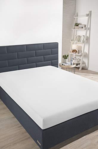 Schiesser Spannbettlaken, 100% Baumwolle, Weiß, 100 x 200 cm