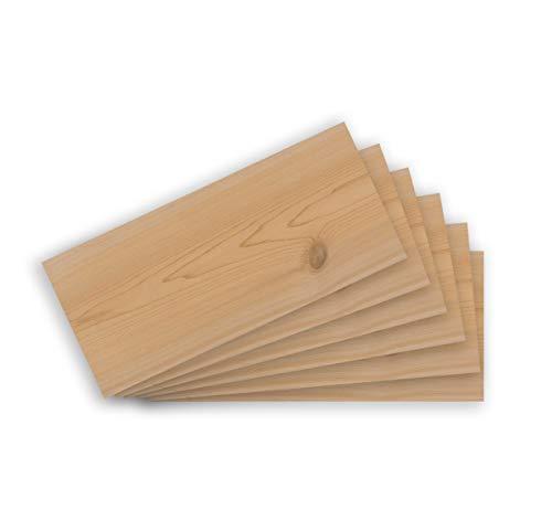 FUMOSA Western Red - Tablas para ahumar (madera de cedro, 6 unidades)