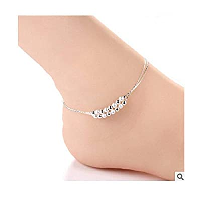 Women New Ankle Bracelet 925 Sterling Silver Anklet Foot Jewelry Chain