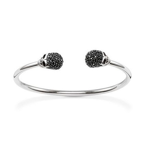Thomas Sabo Damen-Armreif Rebel at heart 925 Silber Zirkonia transparent 17 cm - AR083-643-11-L