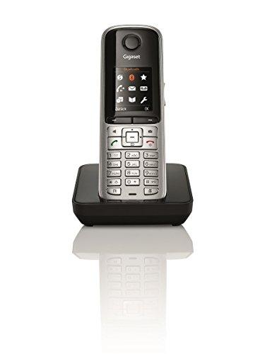 Gigaset S810H Telefon - Schnurlostelefon / Universal Mobilteil - mit Farbdisplay - Dect-Telefon - schnurloses Telefon / Freisprechen / Router - kompatibel, platin