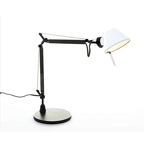 Artemide Tolomeo Micro BiColor Tafellamp, draaibaar, zwart/wit