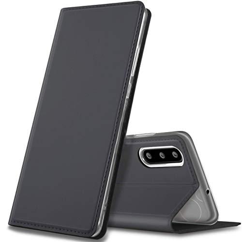 Verco Handyhülle kompatibel mit P30, Premium Handy Flip Cover für Huawei P30 Hülle [integr. Magnet] Hülle Tasche, Schwarz