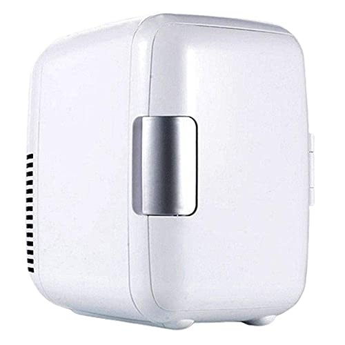 Peakfeng 4L Mini Coche Frigorífico Frigorífico Refrigerador portátil 12V AC/DC Powered Cool Frese Fool Cooler and Warmer Home Office Freezer Coche Skincare (Color : White)