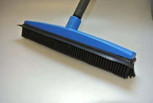 balai coiffeur - balai à picots en caoutchouc avec manche en acier gainé