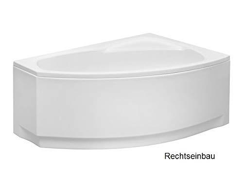 Aqualuxbad Badewanne | Wannen 140 x 80 cm Rechtseinbau inkl. Wannenfuß und Ablaufgarnitur, Schürze:mit Schürze