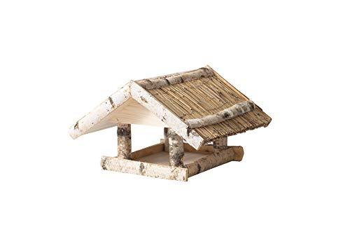 MyDeer Vogelhaus XL 40x30 cm - Vogelfutterhaus aus Holz - Vogelvilla - Wetterfest - Für Balkon oder Fenster - In der EU hergestellt (Starling)