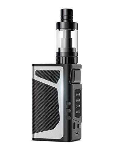 Mishuai E-Zigarette echtes Set 80W Dampf Rauch Wasserpfeife Raucherentwöhnung Artefakt Super Rauch (Color : Silber)