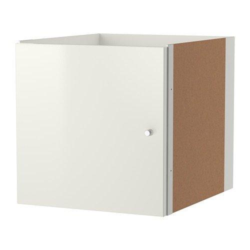 IKEA KALLAX Einsatz mit Tür in Hochglanz weiß; (33x33cm); Kompatibel mit EXPEDIT