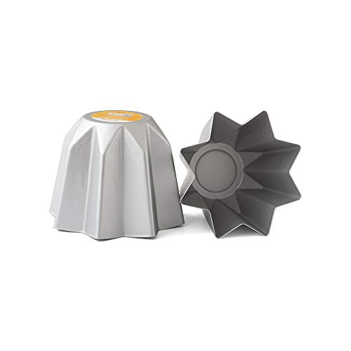 Decora 0062689 Stampo Pandoro in Alluminio Anodizzato, 1 Kg, Argento